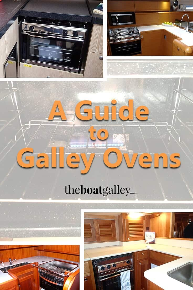 Pinterest image for using a galley oven