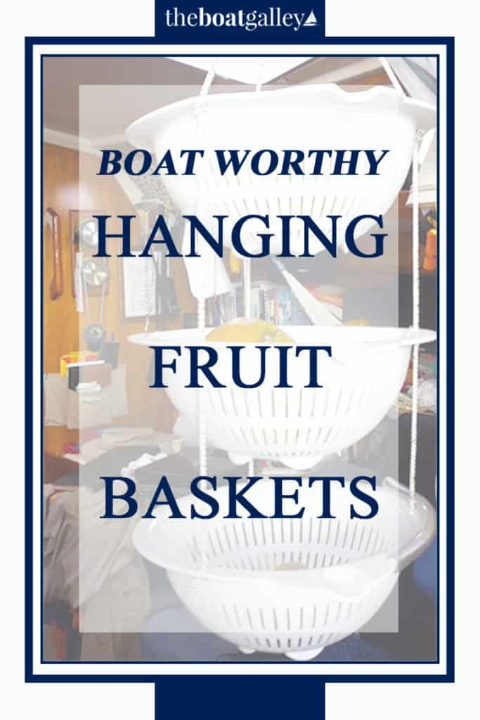 Make your own hanging fruit basket that solves three big problems with the wire ones!  Easy and inexpensive, too.