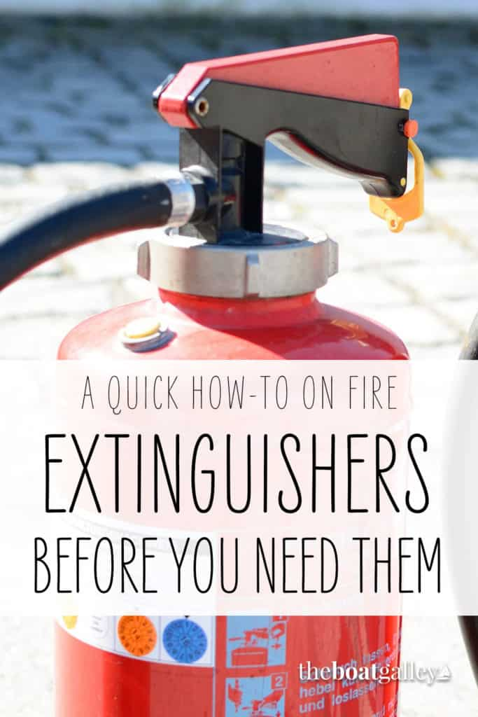 Using a fire extinguisher Pin image