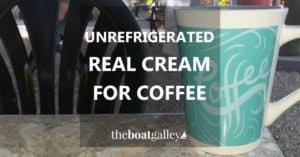 Like real cream in your coffee? Here's individual servings of half & half that don't have to be refrigerated!