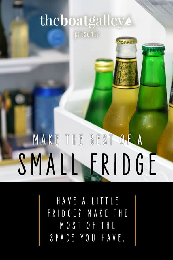 Does your boat have a tiny refrigerator? Then you need my best tips for going two weeks or more between grocery trips. It's easier than you think.