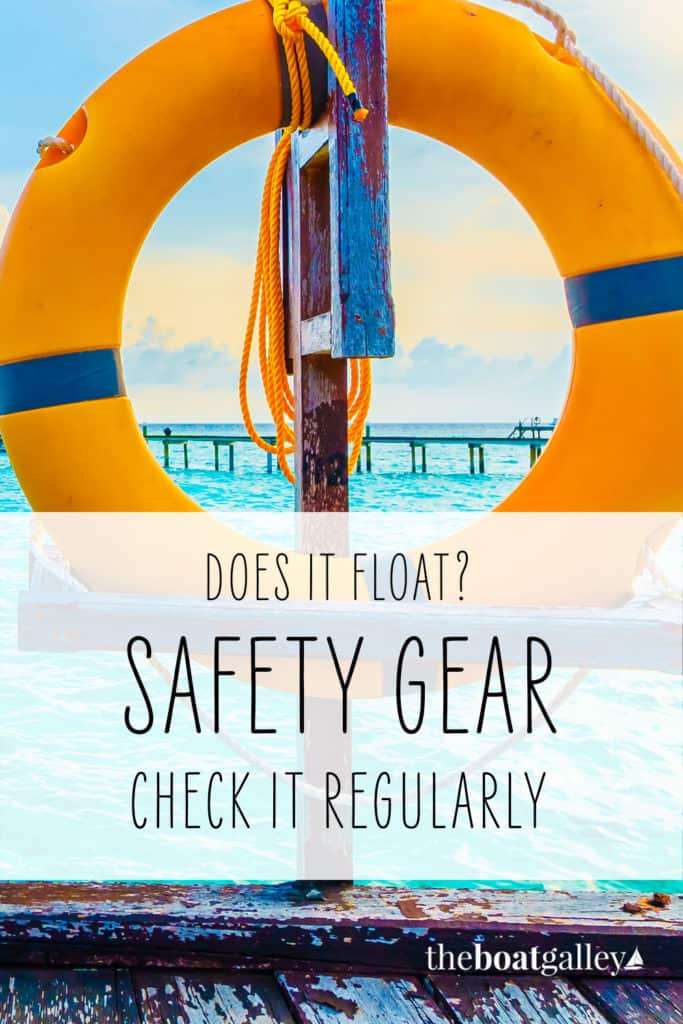 Pinterest image for why you need to check boat safety gear.