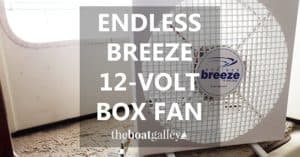 At anchor or on a mooring, the Endless Breeze box fan provides extra cooling on super-hot days or when working in areas without permanently-mounted fans.