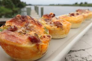 Looking for a special, make-ahead breakfast? Try mini sausage quiches.