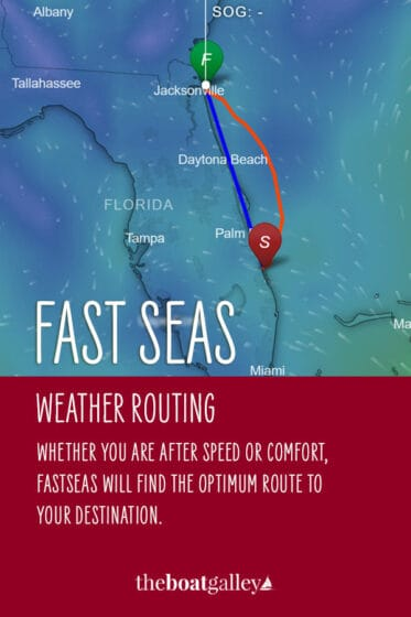 How do you plan your route for a long passage? It's easy with a nifty app called Fast Seas.