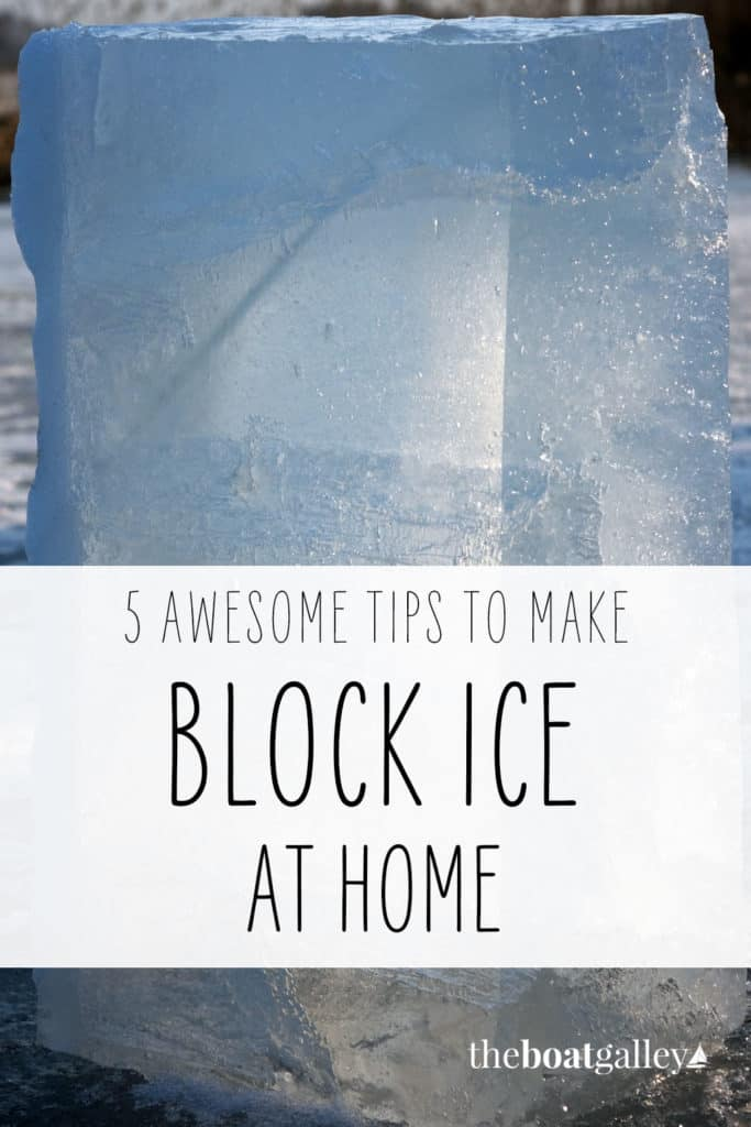 Tips for making block ice to use in a cooler for food storage. It seems like such a simple thing to do, yet I've had so many disasters.