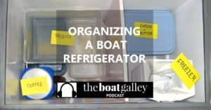 A top-loading boat refrigerator takes special organization since nothing is built in. Learn where to start in planning how to arrange it.