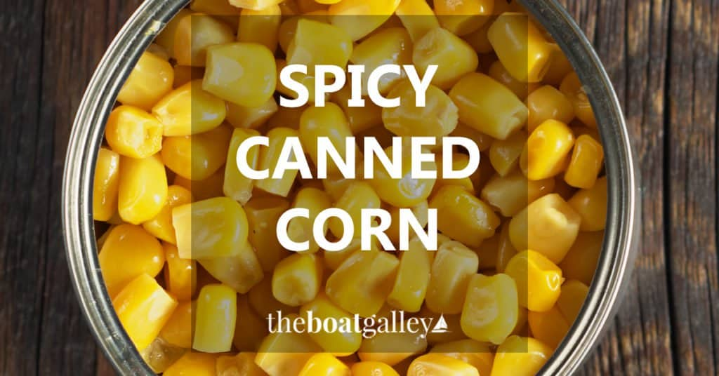 Instead of just heating up a can of corn, spend just a couple extra minutes to add flavor and interest!