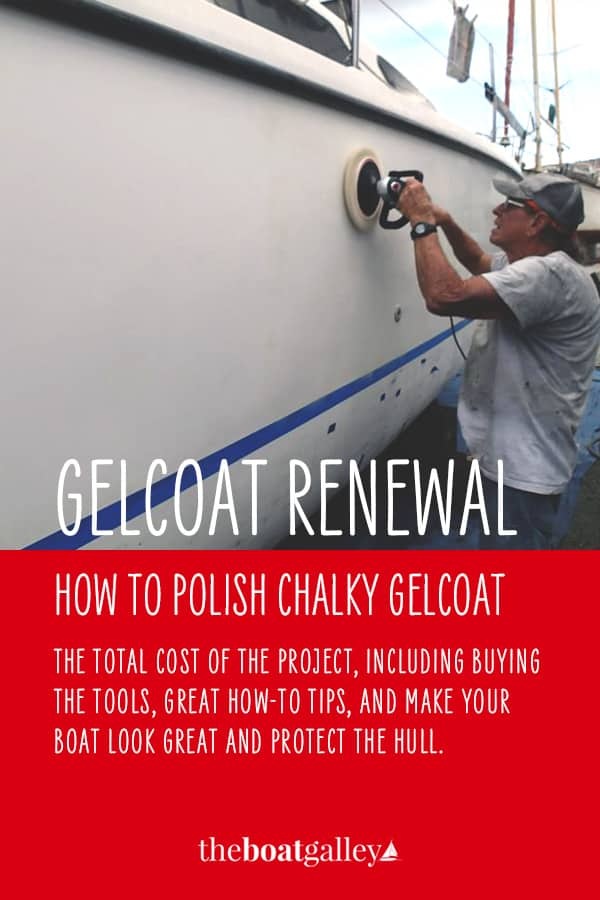 With age, gelcoat gets chalky unless it is polished regularly. But even if your boat's gelcoat has been neglected, it's possible to bring it back with just a bit of DIY elbow grease!