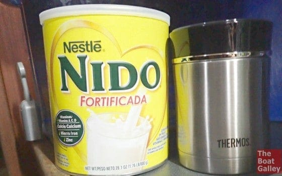 A good thermos, great powdered milk and filtered water = delicious homemade yogurt
