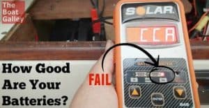 A not-very-expensive battery tester that's easy to use right in the boat with results comparable to a load tester!