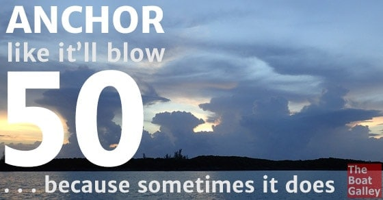 If you always anchor your boat as if you know it's going to blow 50, you won't be surprised if it does.