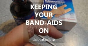 A simple trick for keeping Band-Aids and other adhesive bandages on, even if you're active and/or sweating!