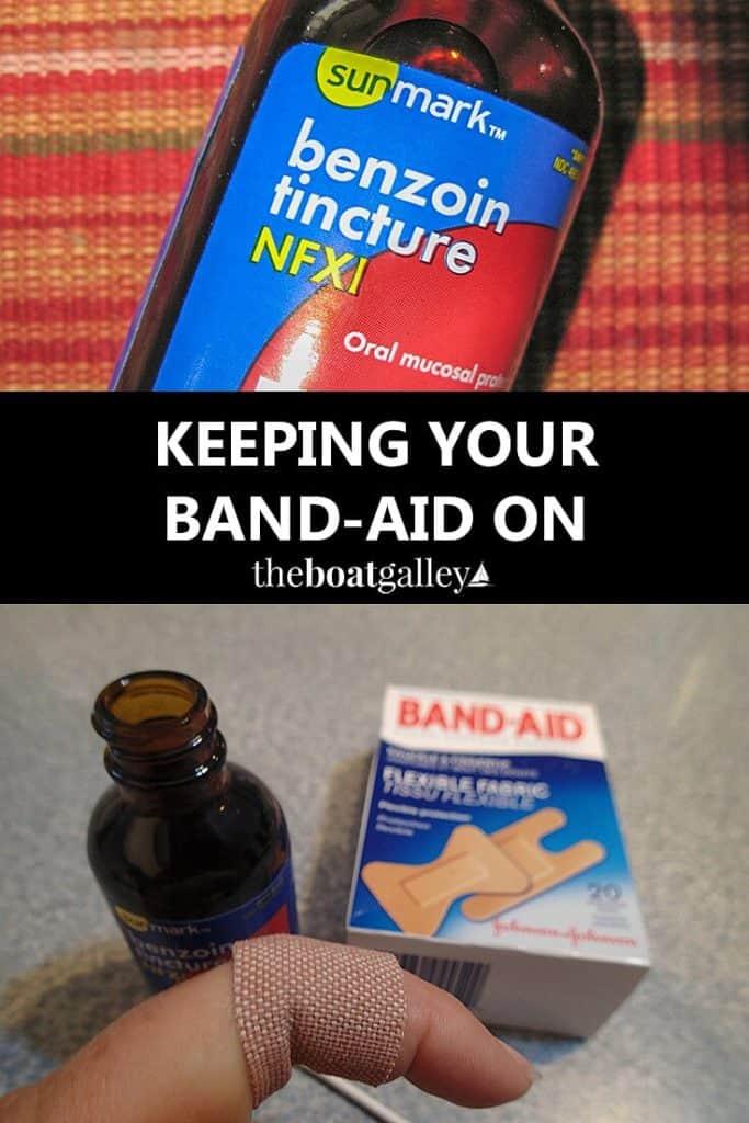Make Band-aids stick better