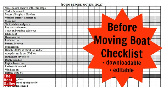 before moving boat checklist