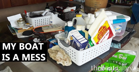 Think your boat is messy when you're working on a project? Take a look at ours!