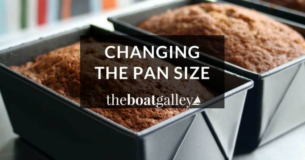 How to change the baking time and temperature when changing a pan size. The key for successfully using a different size pan when baking, or when doubling a recipe.