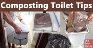 How to use coconut coir in a composting toilet, including the exact amount of water to rehydrate it with, and tips on dealing with a fly infestation.