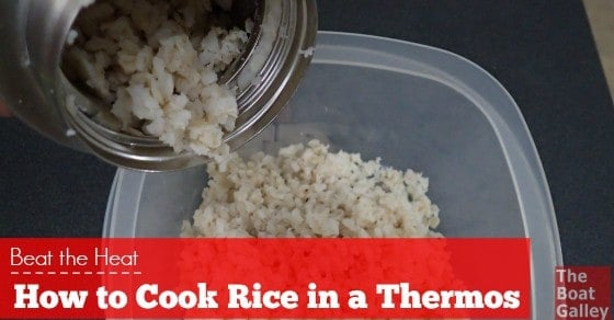 Cook rice without all the heat and humidity -- while you do other things!