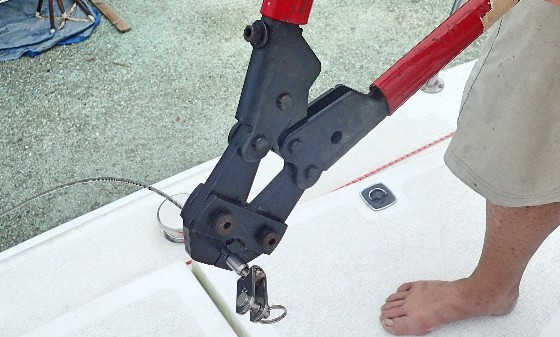 DIY Project to Replace Lifelines on Our Boat: Replacing our lifelines was so much easier than I ever exepcted. Here's how we did it.