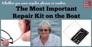Whether you wear glasses or sunglasses, you need to be able to fix them out on the water. Here's a great -- and inexpensive -- kit that's had everything I've ever needed.