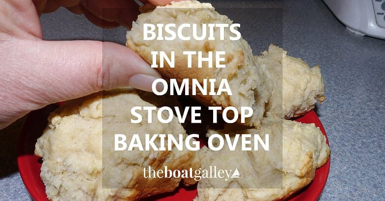 Make delicious biscuits in your Omnia stovetop oven.