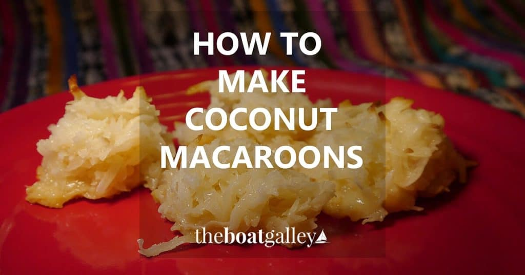 Make coconut macaroons with only a few ingredients. They're fun anytime.