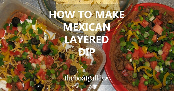 """Looking for a """"special"""" appetizer with lots of variations? Mexican Layered Dip is great when appetizers will stand in for a meal!"""