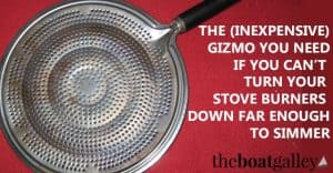 There's a very simple solution if you can't turn your stove burners down far enough to simmer food. Better yet, it's inexpensive!