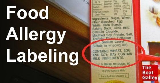 Food Allergy Menu