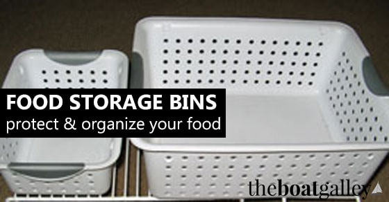 Bins are critical for organizing your food in lockers, the refrigerator or cooler. But not all bins are created equal -- find out what to look for!