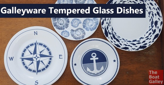 Finest Galleyware Tempered Glass Dishes | The Boat Galley HA84