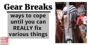 We all tend to think about having spares and the ability to fix things that break. But what will you do until it's fixed? Plan ahead!
