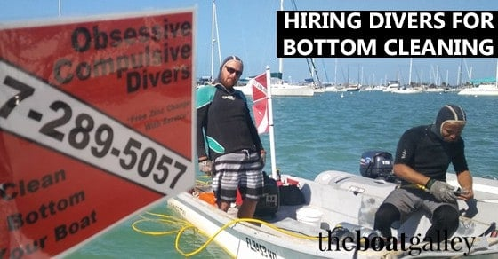 Wondering how you'll keep the bottom of your boat clean of growth as you cruise? Info and tips on hiring a dive service to do it for you.