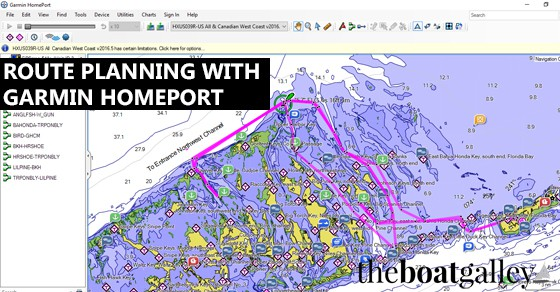 Route Planning with Garmin Home Port | The Boat Galley