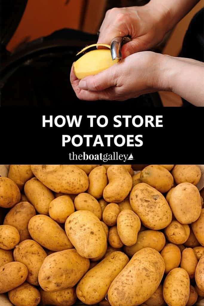 """How to store potatoes for the longest life! Six simple """"rules"""" to keep them for months."""