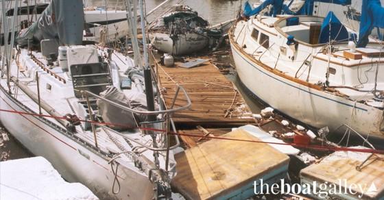 Docks destroyed in Hurricane Marty