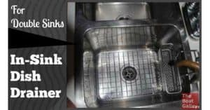 If you have a double sink, you can easily make one side into a dish drainer -- great if you're doing dishes underway (or in a rolly anchorage) as dishes are contained and can't fall to the floor!
