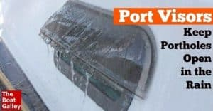 It's bad enough if it's raining when you want to be out having fun. But having to close all the portholes on a hot, humid day makes it just that much worse. Here's an easy way to keep those ports open!
