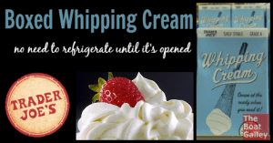 Real, true whipping cream that doesn't have to be refrigerated until you open it?? YES!