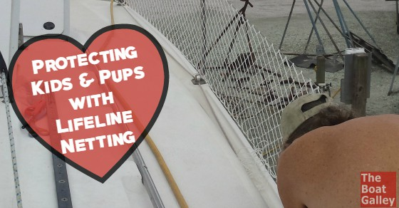 Kid boats and dog boats . . . lifeline netting adds a bit of safety to both. A few notes on installing it and where to get the best price on the netting.