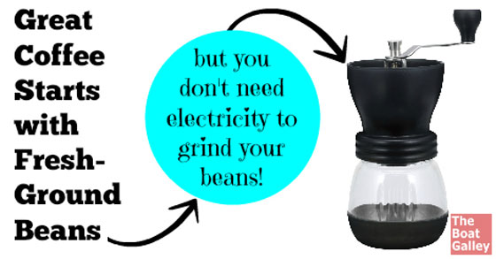 Want a great cup of coffee, but don't have the power for an electric coffee grinder? This manual coffee grinder works well and won't wear you out!