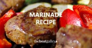 Great all-purpose marinade recipe -- marinate beef, chicken, pork or even veggies. Adds lots of flavor!