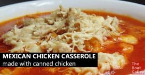 Easy and delicious Mexican-inspired chicken casserole, using canned chicken . . . lots of variations for whatever ingredients you have, and a stovetop version.
