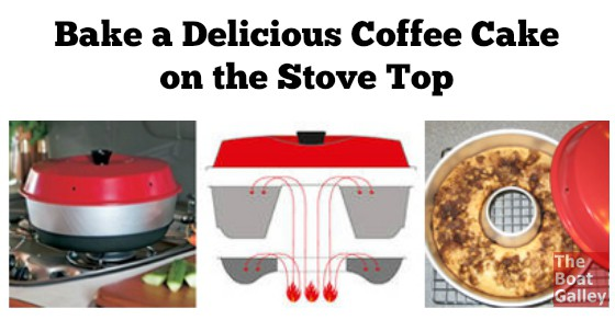My Streusel Coffee Cake recipe with step-by-step directions for baking it in the Omnia Stove Top Oven! Yes, you can have a special breakfast treat!