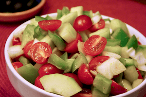 Firecracker salad--easy to make ahead and has a big bang of flavor on the boat.