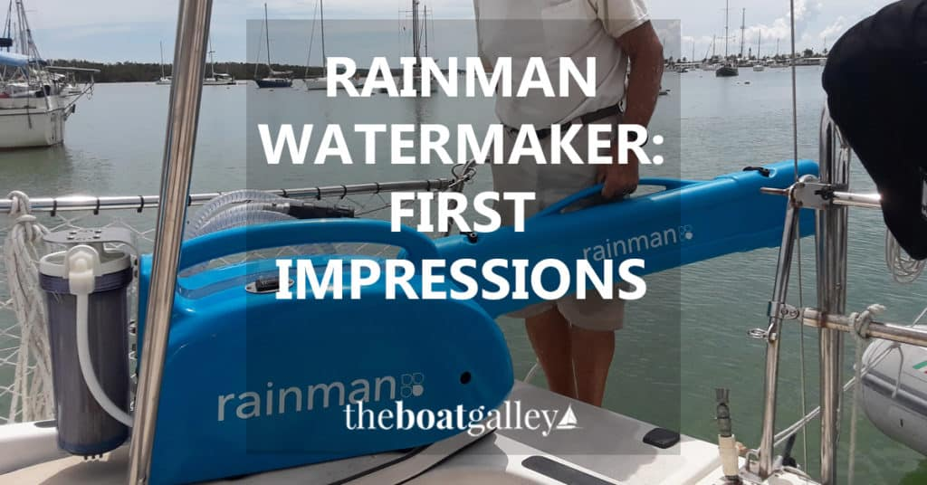 SeaTask Group has loaned us a Rainman watermaker for a month for review purposes. Ten days in, here's our first impression and answers to the questions I've gotten most often.