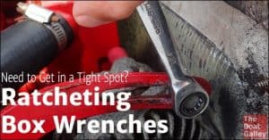 No room to turn a wrench and not enough clearance for a socket? A ratcheting box wrench to the rescue!