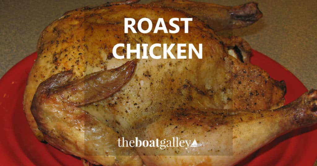 Instead of roasting a turkey, how about a whole roast chicken for a holiday meal from a tiny kitchen?
