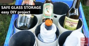 How to store wine or liquor bottles and glasses -- or any other glass bottles -- on a boat? Here's a quick project that'll keep them safe!